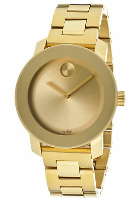 Movado Bold 36mm Gold Stainless Steel Unisex Watch 3600085