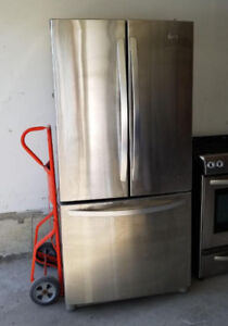 """33"""" LG Stainless Steel Fridges- Freezer - Water Container"""