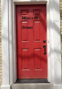 Door - 34(w) x 80, FIBERGLASS, 6-Panel, Wood Grain, Pre-Hung