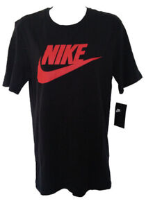 nwt Men Nike Logo Tshirt black/red M