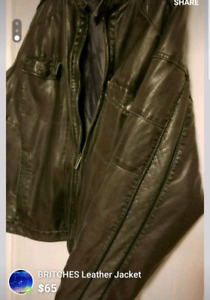 Britches Leather Jacket (MOVING SALE give offer)