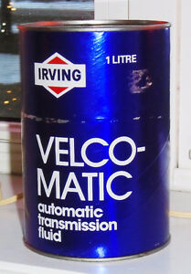 VINTAGE 1970's IRVING VELCO-MATIC ATF (1 LITRE) OIL CAN