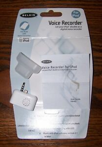 Belkin Voice Recorder for iPod with Dock Connector