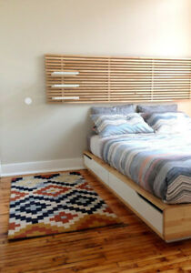 Ikea Mandal Queen Bed (mattress and headboard not included)