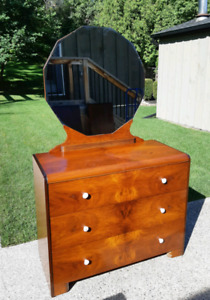 Antique Lowboy with Mirror *Delivery Available*