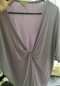 Beautiful purple plunge t-shirt from Urban Outfitters