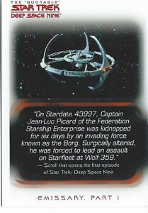 The Quotable Star Trek Deep Space Nine Card Set (108)& Free Case