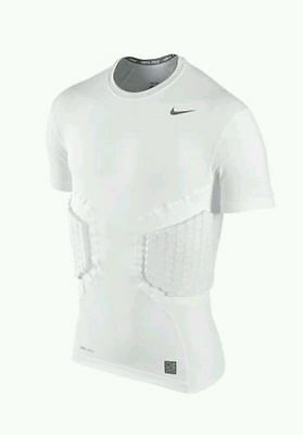 Nike Pro Combat Hyperstrong Fitted 2 Pad Padded Football Shirt Large L 806900