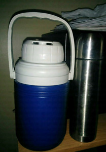 Metal thermos and water jug