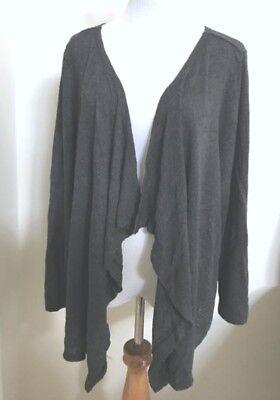 FRESH PRODUCE 3X Black Pointelle Draped Stretch Knit Cardigan $79 NWT New 3X
