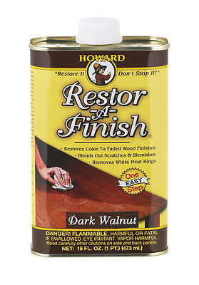 HOWARD Original Restor-A-Finish 1 Pt DARK WALNUT Wood Furniture Restorer RF6016