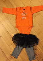 Little witch Halloween baby girl outfit