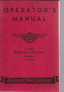 Continental L head manual