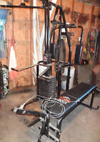 multi-use York home gym / weight bench