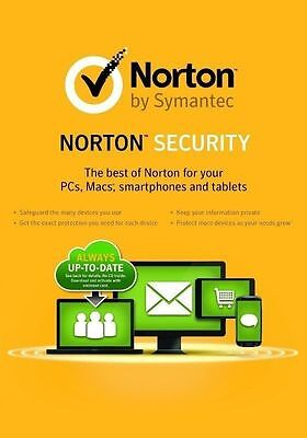 New Norton  Internet  Security Deluxe 2017 2018  5 Pcs   Macs   Devices  1 Year