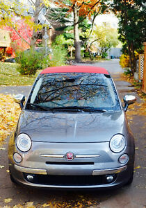 2013 Fiat 500c Cabriolet CUIR ROUGE en super condition