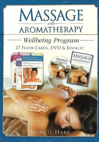 Massage w/ Aromatherapy Margie Hare Wellbeing Program Flash Cards DVD & Booklet