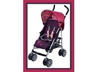 Pink & purple pushchair used once!!