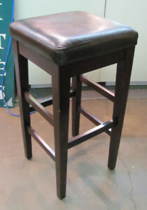 Brown Leather Stools