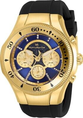 Technomarine TM-118146 Cruise Men's 45mm Gold-Tone Blue Gold Dial Watch
