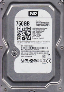 Western Digital 750Gb Blue WD7500AZEZ Hard Drive
