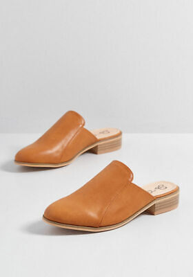 Women's Backless Slip On Vegan Leather Mules Slides Sz 6-10 -