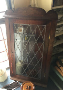 OLD CORNER CABINET KITCHEN CUPBOARD DISPLAY CABINET