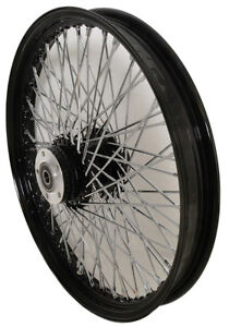 "21x3.5"" BLACK & CHROME 60 SPOKE DUAL DISC RIM"