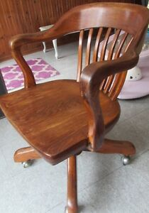 Solid Oak Office Chair Made By Krug Furniture Kitchener