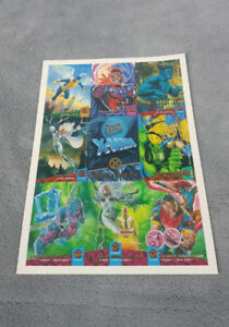 1994 Fleer Ultra Uncut X-Men 9 card Promo Sheet Marvel Comics.