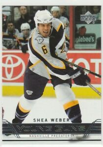 SHEA WEBER .... YOUNG GUNS .... ROOKIE CARD .... PSA GEM MINT 10