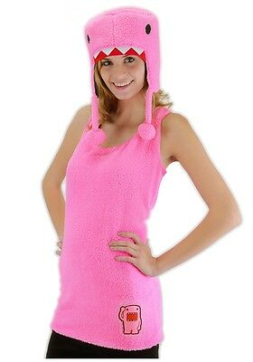 PINK DOMO Adult Womens Costume Cute Funny Halloween Outfit - Halloween Domo Costume