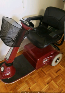 Amiga red mobility scooter