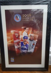 2008 Hockey Hall of fame Induction celebration signed and framed