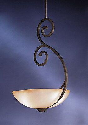 Kichler Distressed Black And Antique Umber Etched Glass - Transitional Distressed Black Chandelier
