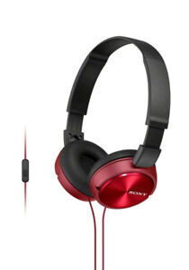Sony MDRZX310AP/R On-Ear Headphones with Microphone (Red)
