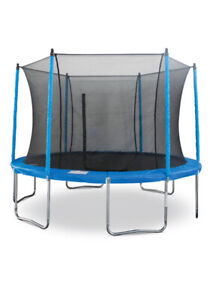 12' Jumptek Enclosed Trampoline EUC