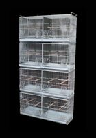 NEW Stackable Breeding Cage with Divier for Canary Finch