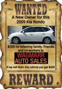 2009 Kia rondo ex $6995