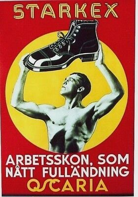 Original vintage poster STARKEX SHOE FASHION STRONG MEN c.1940