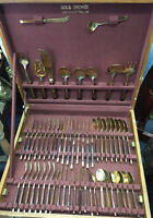 SOLID BRONZE CUTLERY SET MADE IN THAILAND WITH CASE MISSISSAUGA