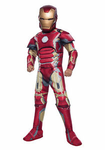 Costume DELUXE IRON MAN Enfant Taille M comme neuf (Marvel)