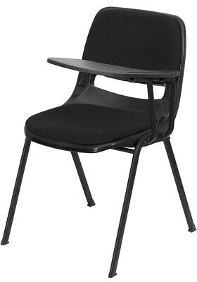 Black Ergonomic School Chair With Left Handed Flip-up Tablet Arm Padded Seat