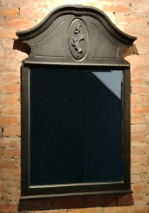 Large Victorian Style Beveled Wall Mirror