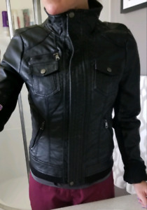 Eclipse faux leather moto jacket size small