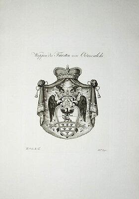 1816 Wappen Kupferstich Tyroff Odescalchi