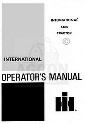 Farmall International 1466 Diesel Operators Manual Ih