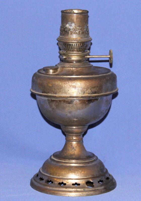 Antique Austrian Gebr Brunner Wien Tin Gas Lamp