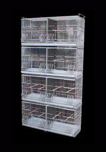 Stackable Double Breeding Cage for Canary Finch Budgie