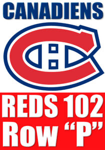 (2X) ROUGES/REDS 102 Row P: Vancouver Canucks vs Canadiens
